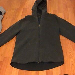 Chamber zipped hoodie